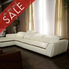 Vanuto  Leather Sofa w/ Chaise