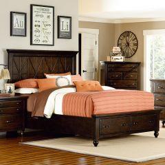 3700-4105SK Thatcher Panel Storage Bed (침대+협탁+화장대)