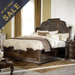 4200-4306K La Bella Vita Sleigh King Bed (침대+협탁+화장대)