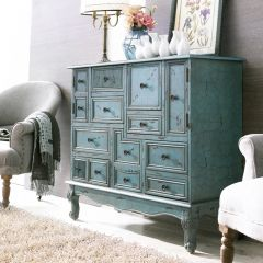 12426-Green  Console Chest
