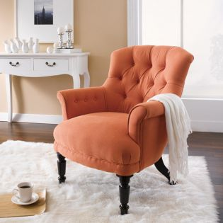 Liverpool-Orange  Accent Clubchair