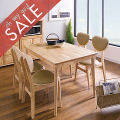 D1160-4C  Dining Set (1 Table + 4 Chairs)