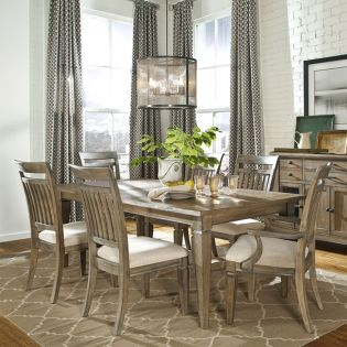 2760-121  Dining Set  (1 Table +6 side)