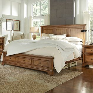 FR-i09 Alder Creek  Panel Storage Bed ~Storage Drawer~