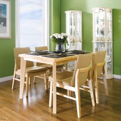 Guliver-4C-Beige  Dining Set (1 Table + 4 Chairs)