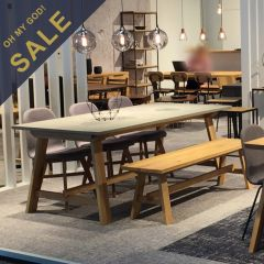 Castle-6  Dining Set  (1 Table + 3 Chairs + 1 Bench)