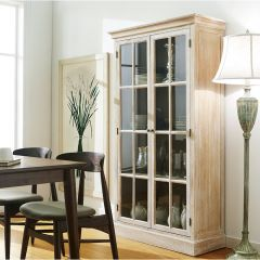 Melina-Brown  Glass Cabinet