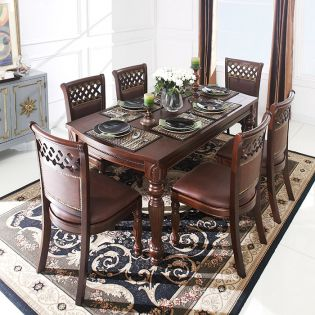 Columbia-6C   Dining Set (1 Table + 6 Chairs)