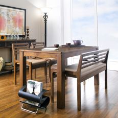 D5400-4  Dining Set  (1 Table + 2 Chairs + 1 Bench)