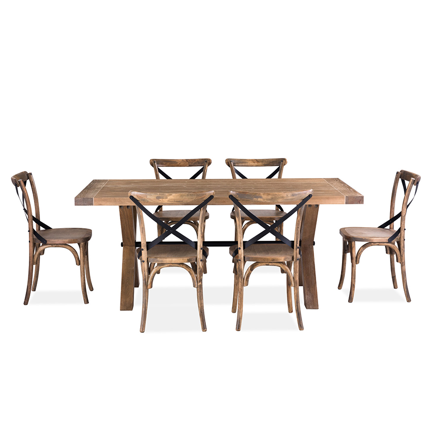 <b> CW045N-6 </b> Dining Set<br>(1 Table + 6 Chairs)