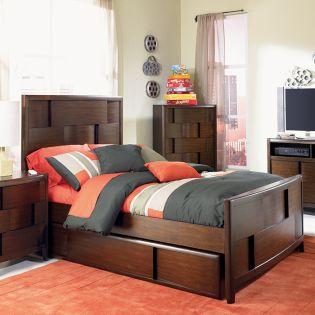 Y1876-64  Full Panel Bed (침대)(매트 규격: 134cmx 193cm)
