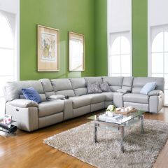 10497  Power Leather Recliner Sofa