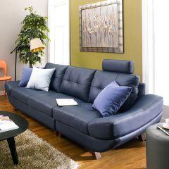 M8017-Dark Blue  Leather Sofa (2+2)(4인용 쇼파)