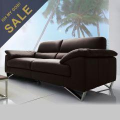 DIV 841-Espresso  Leather Sofa