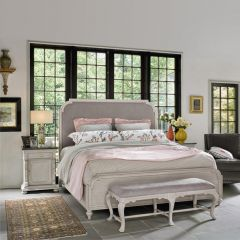 Elan 637310B  Upholstered Bed (침대+협탁+화장대)