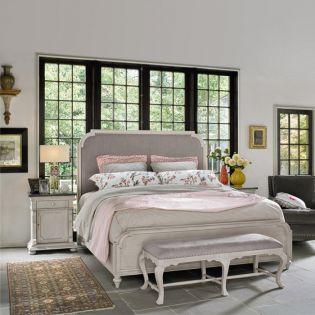 Elan 637310B  Upholstered King Bed (침대+협탁+화장대)