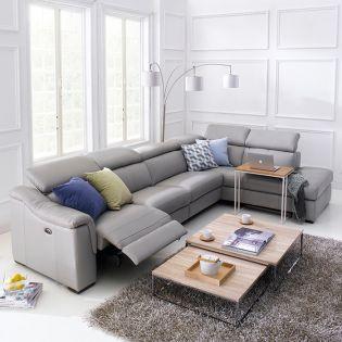 BG-10893  Power Leather Recliner Sofa
