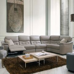 RS-10966  Power Leather Recliner Sofa