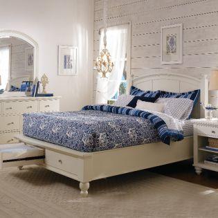 ICB-412-Egg Cambridge   Panel Bed w/ Storage (침대+협탁+화장대)