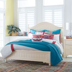 FR-6481-4205K Summerset-Ivory Low Poster Queen Bed