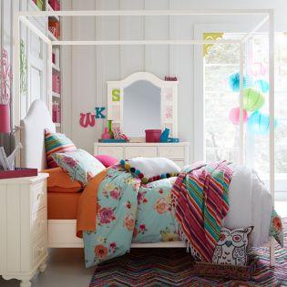 6481-5004 Summerset-Ivory  Canopy Full Bed (침대) (매트 규격: 134cmx 193cm)