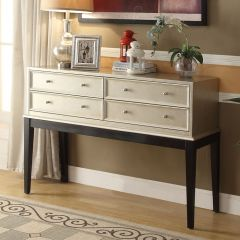Irene-Antique Silver  Console Table
