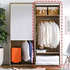 WD-580-C-RS  Hanger Closet w/ Roll Screen