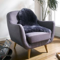 Mary Rug-Dark Grey  Sheepskin