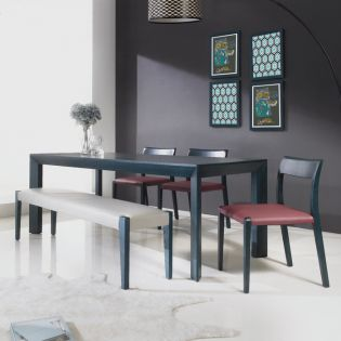 Spencer-6  Leather Dining Bench Set (1 Table + 3 Chairs + Bench) ~Top Quality~