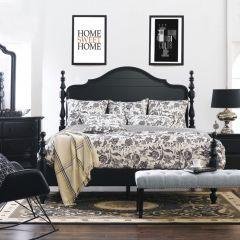 i31 Retreat Black  Poster Bed (침대+협탁+화장대)