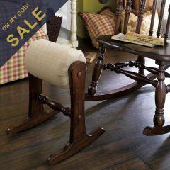Homecoming  Vintage Maple Rocker Foot Stool