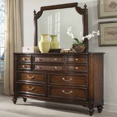 Hickory  Low Dresser + Mirror