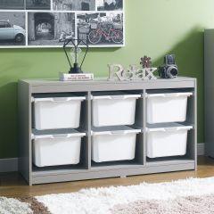 Kreo-GRY-WHT-6  Storage Box
