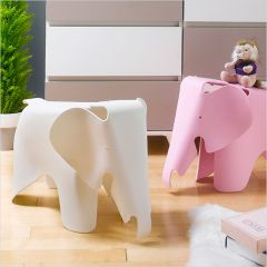Elephant-White  Stool Chair