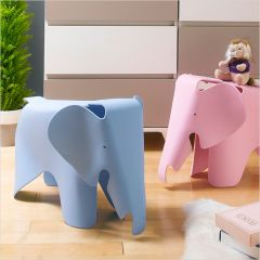 Elephant-Blue  Stool Chair