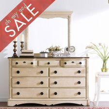 B747  9-Drawer Dresser+Mirror