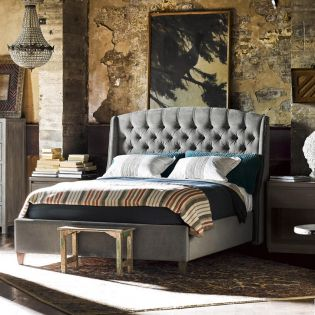 Curated 552260B-A Halston   Panel Bed