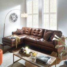 10320-Whisky -Chaise  Leather Sofa