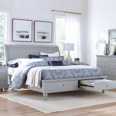 ICB-400-KD-1 New Sleigh Storage Bed (침대+협탁+화장대)