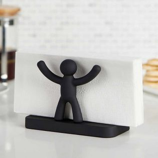 330281-040 Buddy Napkin-Black Holder