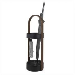 320240-048 Hub Stand-Walnut Umbrella Stand