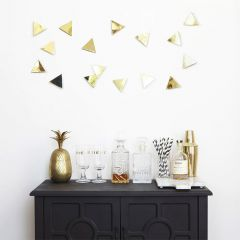 1004369-104 Confetti Triangles-Brass-16 Wall Décor