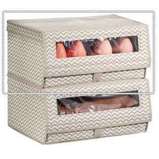 05431ES  Axis Stackable Shoe Bin-Large
