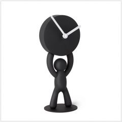118510-040 Buddy-Clock-Black Desk Clock