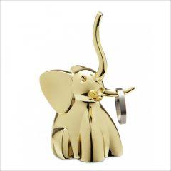 299224-104 Elephant-Brass Ring Holder