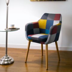 Nora-Multi-Color  Carver Chair