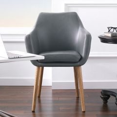 Nora-Grey-PU  Accent Chair