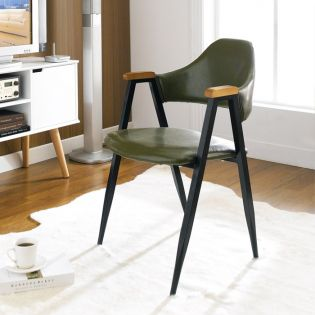 Arch Back-Green  Metal Chair