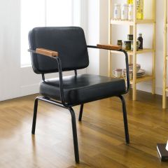 Square Back-Black  Metal Chair