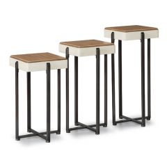 W1449-026   Set of 3 Bunching Tables